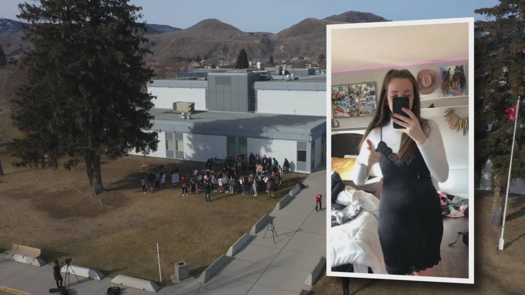 British Columbia- 17 year-old girl was sent home from school for wearing an outfit that was deemed 'inappropriate' by a female teacher