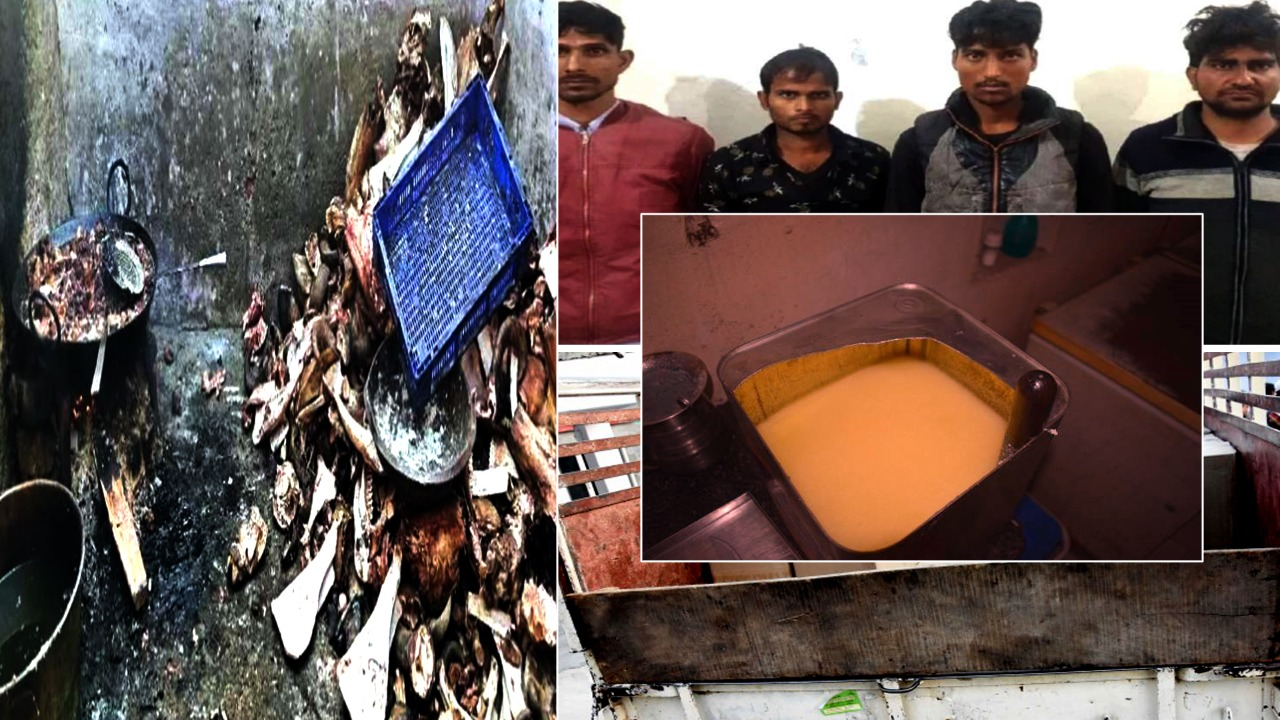 'Desi Ghee' was being made from animal fat, police recovered bones, legs and cracking from the spot