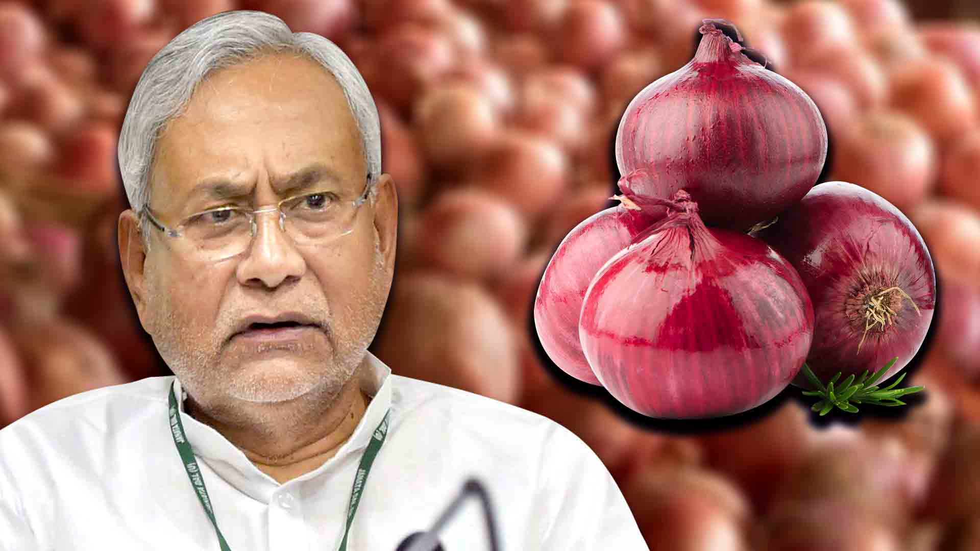 Forget Flowers; Onions Are the New Trend to Welcome the Chief Minister….!!