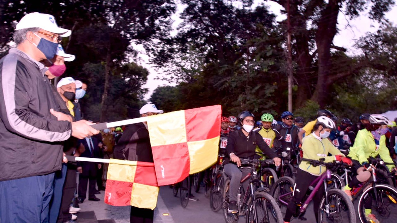 CM Trivendra Singh Rawat Inaugurated the Flag off Mountain Terrain Biking Rally Organized by Uttarakhand Tourism