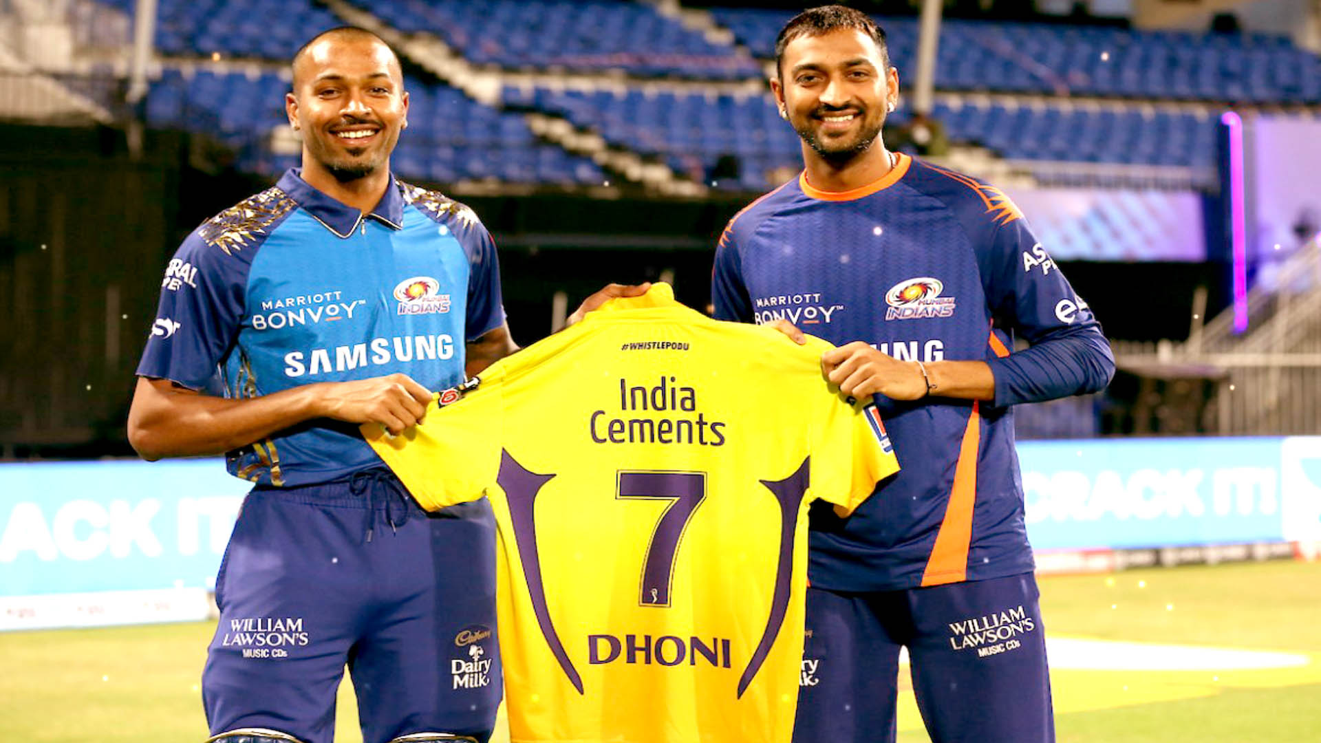 Dhoni retiring from IPL? Fans worried after CSK captain gifts Match Jersey to Pandya Brothers